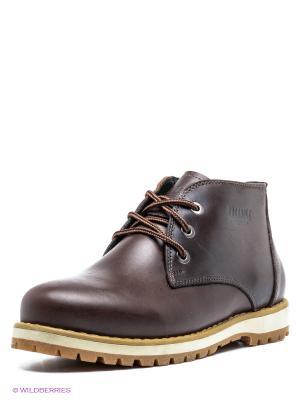 Ботинки FRIENDLY. Цвет: коричневый