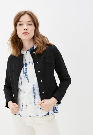 Куртка джинсовая B.Style. Цвет: черный