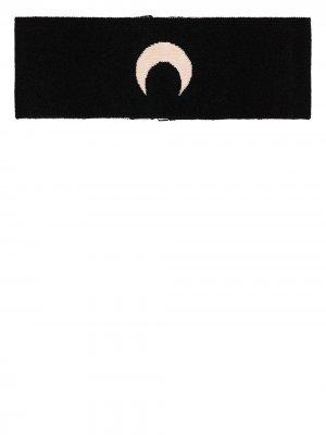Трикотажный чокер с принтом Moon Marine Serre. Цвет: черный