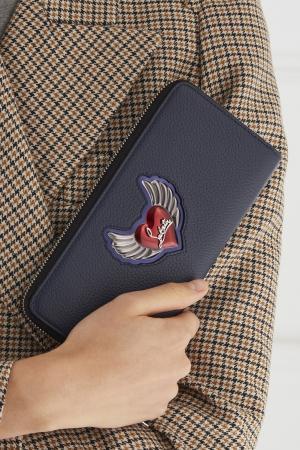 Кожаный кошелек W Panettone Christian Louboutin. Цвет: синий