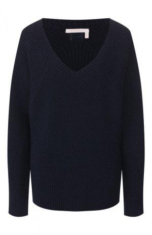 Пуловер из шерсти и хлопка See by Chloé. Цвет: синий