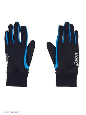 Перчатки Basic Glove ASICS. Цвет: черный, голубой