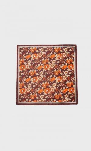 Платок С Цветочным Принтом В Стиле Ретро Коричневый 103 Stradivarius. Цвет: коричневый