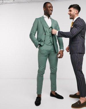 Узкий жилет Tall-Зеленый цвет Gianni Feraud