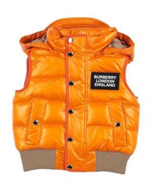 Пуховик BURBERRY. Цвет: оранжевый