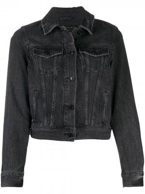 Джинсовая куртка узкого кроя AllSaints. Цвет: черный