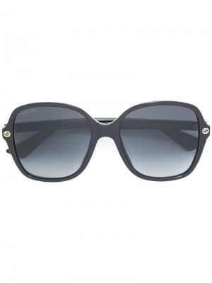 Солнцезащитные очки в квадратной оправе Gucci Eyewear. Цвет: черный