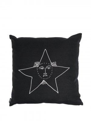 Диванная подушка с принтом Solamente Fornasetti. Цвет: черный