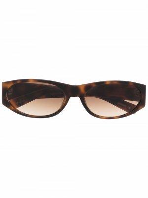 Солнцезащитные очки в овальной оправе FLATLIST. Цвет: коричневый