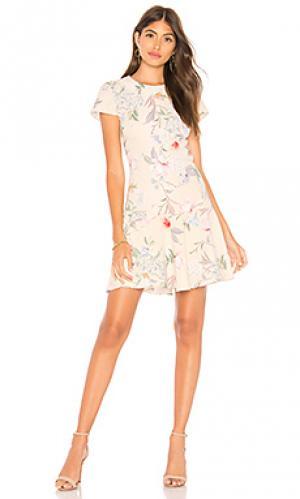 Платье hudson Amanda Uprichard. Цвет: ivory