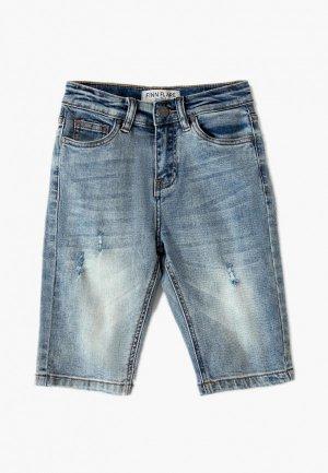 Шорты джинсовые Finn Flare. Цвет: голубой