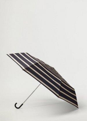 Складной зонт с полосками - Menorca Mango. Цвет: глубокий темно-синий