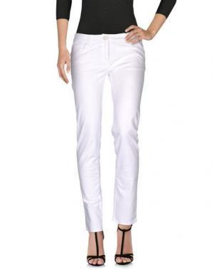 Джинсовые брюки BARBIE. Цвет: белый