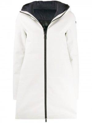 Пальто свободного кроя с капюшоном RRD. Цвет: белый