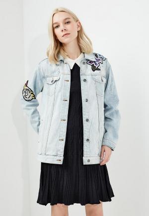 Куртка джинсовая Twin-Set Simona Barbieri. Цвет: голубой