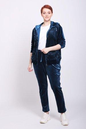 Спортивные брюки Just Valeri. Цвет: синий
