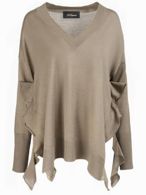 Шерстяной пуловер Les Copains. Цвет: бежевый