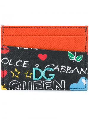 Визитница с принтом Dolce & Gabbana. Цвет: разноцветный