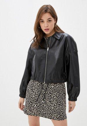 Куртка кожаная Mavi ZIPPED JACKET. Цвет: черный