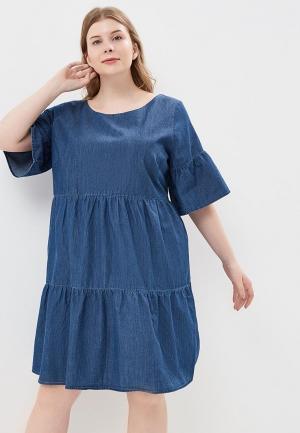 Платье джинсовое Junarose. Цвет: синий