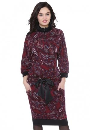 Платье Olivegrey SANGRIA. Цвет: бордовый