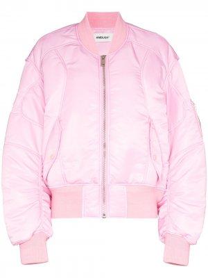 Куртка-бомбер со вставками AMBUSH. Цвет: розовый