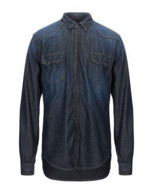Джинсовая рубашка 2 MEN. Цвет: синий