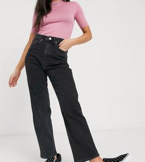 Черные джинсы прямого кроя с завышенной талией -Черный Monki