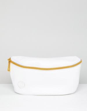 Белая сумка-кошелек на пояс Mi-Pac. Цвет: белый