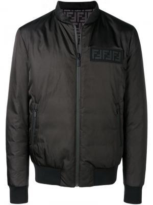 Куртка-бомбер с логотипом Fendi. Цвет: чёрный