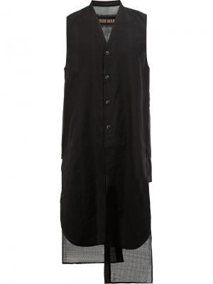 Удлиненная жилетка Uma Wang. Цвет: чёрный