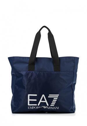 Сумка спортивная EA7. Цвет: синий