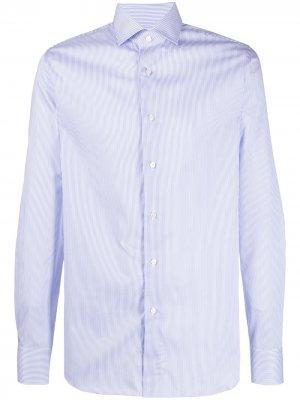 Рубашка с длинными рукавами Xacus. Цвет: синий