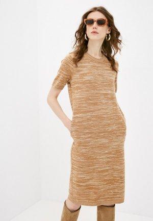Платье Katya Erokhina. Цвет: коричневый