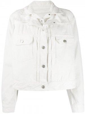 Многослойная джинсовая куртка Sacai. Цвет: белый