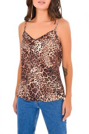 Топ MONDIGO. Цвет: леопард, коричневый