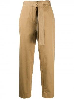 Укороченные брюки с бантом Maison Flaneur. Цвет: нейтральные цвета