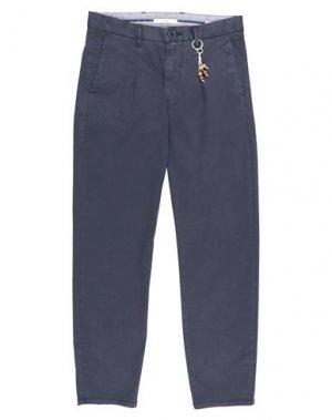 Повседневные брюки GAUDÌ. Цвет: темно-синий