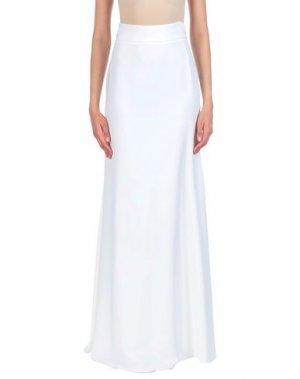 Длинная юбка ANTONIO BERARDI. Цвет: белый