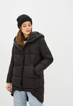 Куртка утепленная Jayloucy. Цвет: черный