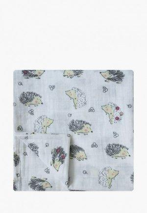 Пеленка Baby Nice 120х120 см. Цвет: серый