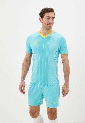 Костюм спортивный Kelme Short sleeve football uniform. Цвет: бирюзовый