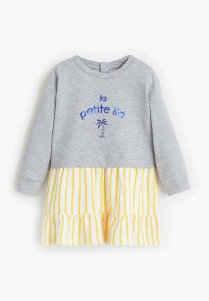 Платье Mango Kids - TINA4. Цвет: серый