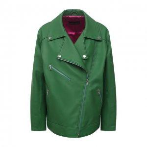 Кожаная куртка Maslov. Цвет: зелёный