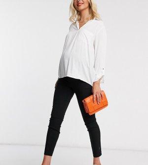 Зауженные брюки с посадкой над животиком ASOS DESIGN Maternity-Черный Maternity