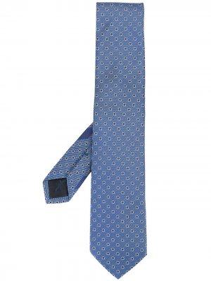 Жаккардовый галстук с узором Gancini Salvatore Ferragamo. Цвет: синий