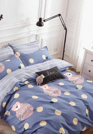 Постельное белье 1,5-спальное Dream Time. Цвет: фиолетовый