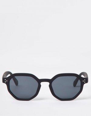 Черные солнцезащитные очки -Черный цвет River Island