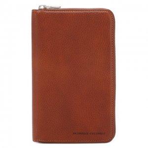Кожаный футляр для документов Brunello Cucinelli. Цвет: коричневый