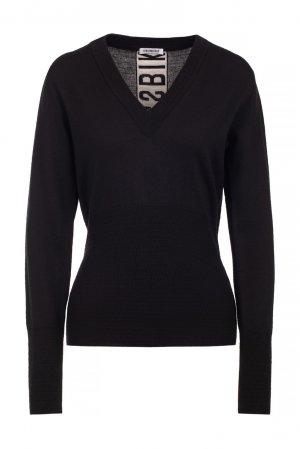 Черный пуловер с логотипом Bikkembergs